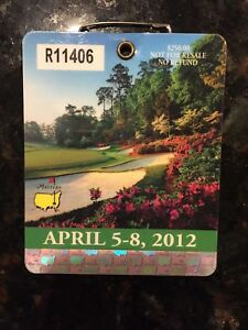 2012 Augusta National Masters Tournament Badge