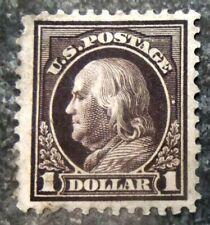 US Scott #518b Franklin Deep Brown, F/VF-Jumbo w/ Face-Free Cancel, CV = $1,800