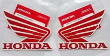 Honda Wing Fuel Tank Decal Wings Sticker 2 x 95mm Red ( silver outline ) & White