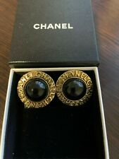 Vintage Chanel Clip-On Button Earrings