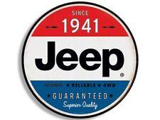 4x4 inch Round Vintage JEEP SINCE 1941 Sticker - wrangler logo old rat rod love