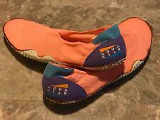 Vintage 1990 OG Nike Aqua Gear Neon Orange Purple Blue Water Sock Shoes Size 14