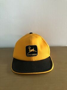 Vintage John Deere Green Patch Yellow Mesh K Products USA Snapack Trucker Hat