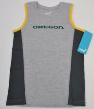 NCAA OREGON DUCKS Boys 4-7 Fan Gear Tank Top T-Shirt M (5-6) New