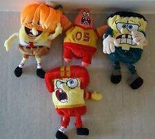 Mixed Lot of Spongebob Squarepants Soft Toys - 4 in total - dressed up