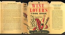 Owen, WINE LOVERS COOK BOOK (1940 first ed in jacket) signed