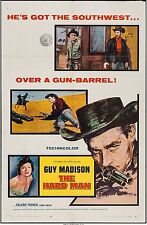 THE HARD MAN, GUY MADISON, LORNE GREEN, 8 LOBBIES,  WITH 1 SHEET, Bonanza Star