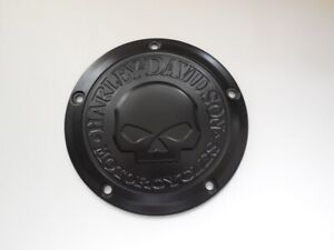Harley Davidson Skull Kupplungsdeckel Derby Deckel schwarz matt 25700742