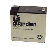 GUARDIAN BY DOUGLAS MODEL: DG 410 SEALED RECHARGEABLE BATTERY 4VOLT 10.0AH
