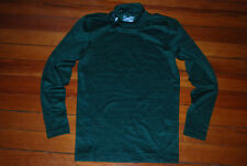 Men's ColdGear Emerald Green Compression Mock Long Sleeve Shirt (Medium)