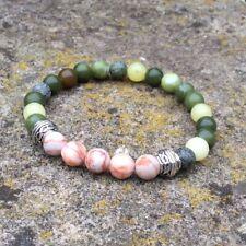 Mens womens unisex Connemara marble Cork marble Celtic stretch bracelet. Irish