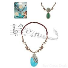 Moana Singing Necklace Girls Kids Disney Pretend Play Music Jewelry Children New