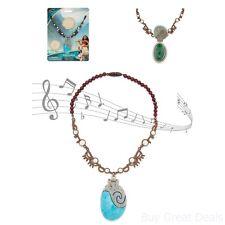 Moana Singing Necklace Girls Kids Disney Pretend Play Music Jewelry Children New