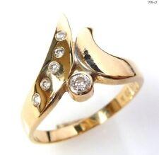 Natürliche Diamant Ringe im Stil Solitär mit Akzentsetzung mit Diamanten