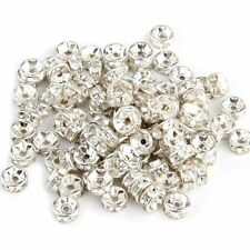 100 X Findings Silver Tone Metal Spacers Caps Beads 6mm HOT AD