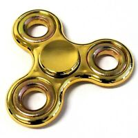 1 x Finger Hand Fidget Spinner gold gold metallic Präzisionskugellager Top Spin