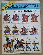 CORRIERE DEI PICCOLI N. 2 GENNAIO 1966  SOLDATINI SAMURAI DA RITAGLIARE