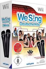 Karaoke Wii / WiiU Spiel We Sing Deutsche Hits + 2 Mikros Mikrofone U NEUWARE