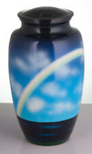 Hand Painted Rainbow Urn Urn For Human Ashes