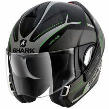 Shark Evoline Series 3 Hataum Helmet Mat Blk/Silver/Green XL 61-62cm RRP $569.95