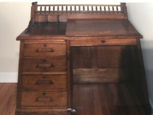 Antique Oak Mission Desk