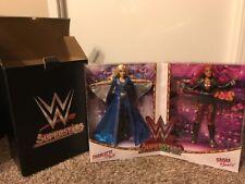 SDCC 2017 Exclusive Sasha Banks & Charlotte Flair WWE Superstars Mattel Set NIB