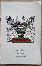 Vintage Guide Book EASTNOR CASTLE, LEDBURY, HEREFORDSHIRE, c1950s, Ephemera