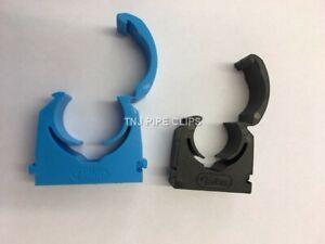Plastic Hinged MDPE Water Pipe Clip Interlocking - 20mm, 25mm, 35mm PACK OF 10