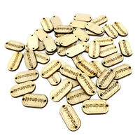 100pcs Wood Wooden 'Handmade' Lettering 2-holes Sewing Scrapbooking Buttons