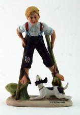 "Norman Rockwell Porcelain Figurine""Boy on Stilts"" from the Danbury Mint 1980"
