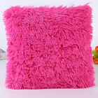 Soft Fur Plush Throw Pillow Cases Home Decor Sofa Waist Car Seat Cushion Cover