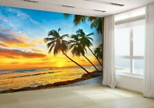 Beautiful Sunset Over the Sea Wallpaper Mural Photo 33131482 budget paper