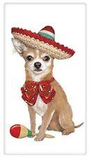 "MARY LAKE THOMPSON 30""x30"" Flour Sack Kitchen Towel MEXICAN CHIHUAHUA DOG"