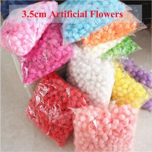 500x 3.5cm Artificial Flowers Small Foam Rose Heads Wedding Party Decor Bouquet