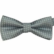 New Baby Toddler Boys Pre Tied Jacquard Weave Spotty Bow Tie Dickie Bow