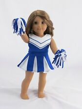 """Doll Clothes Fit AG 18"""" Blue Cheerleader Outfit Made For American Girl Dolls"""