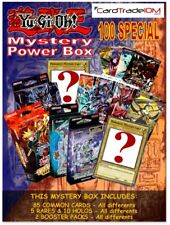 YU-GI-OH! MYSTERY BOX BUNDLES - 85 Commons - 5 Rares - 10 Holos - 2 Booster Pack