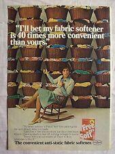 1977 Magazine Advertisement Page Free n' Soft Fabric Softener Laundry Vintage Ad