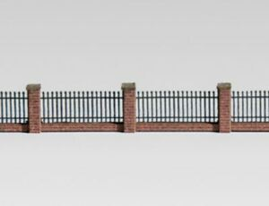 Archistories Z Scale 817191 Low Brick Fence with Pillars Kit 7mm $0 SHIP