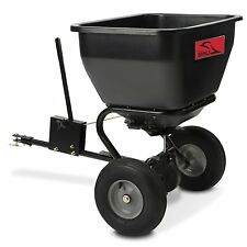 Large Capacity 175lb Pull Behind Broadcast Spreader Lawn Garden