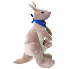 Sweet Kangaroo Stuffed Animal Soft Plush Doll Toys for Baby Kids Blue DWHK