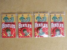 """Beatles Memorabilia Buttons """"Official Beatles"""" on card with portraits USA 1964"""