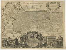 Antique Map-HOLY LAND-ISRAEL-PALESTINE-JEWS-40 YEARS-Von Sandrart-1708