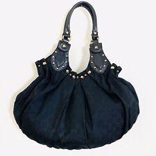 Authentic Gucci Black Monogram Hobo Handbag