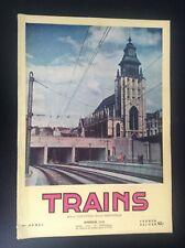 TRES RARE ancienne revue SNCB Trains N° 11 et 12 1952 rail Belgique TTBE