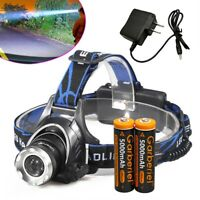 90000Lumens T6 LED Zoomable Headlamp USB Rechargeable 18650 Headlight Head Torch