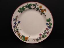 "Woodhill by Citation 7-5/8"" Salad Plate Floral Rim Smooth Edge Brown Trim L15"