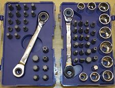 KOBALT 24 & 35pc RIGHT ANGLE BIT DRIVER SOCKET RATCHET SECURITY TORX SPLINE STAR