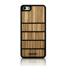 Naztech Zen Rubberized SnapOn Cover with Light Brown Bamboo for iPhone 5
