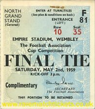 reproduction 1959 NOTTINGHAM FOREST LUTON TOWN fa cup final ticket [RMT]